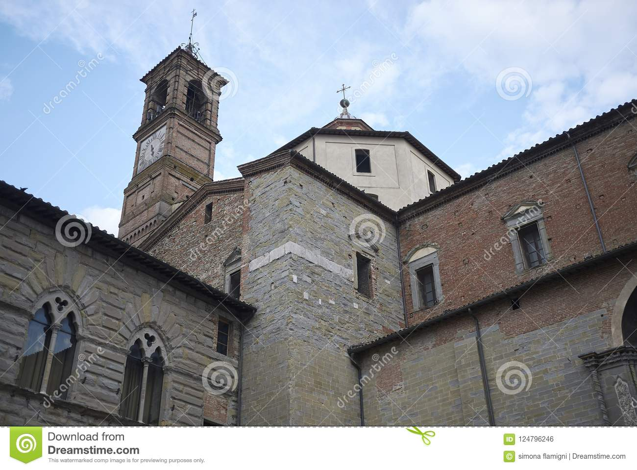 view-citta-di-castello-basilica-italy-august-cattedrale-dei-santi-florido-e-amanzio-124796246